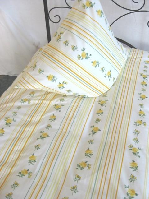 Bettwäsche Weiß Gelb Grün 100% Baumwoll-Renforce