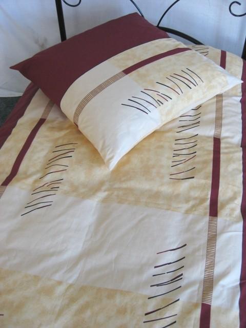 Bettwäsche Weiß Beige Braun 100% Baumwoll-Renforce