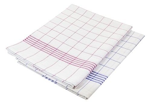 Geschirrtuch Küchentuch rot/weiß 3er Pack