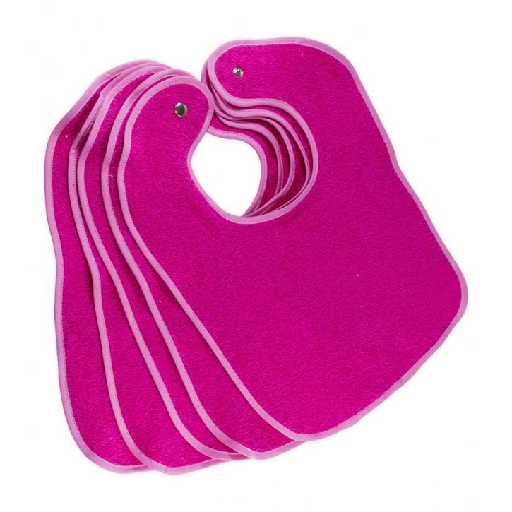 Lätzchen Pink mit Druckknopf